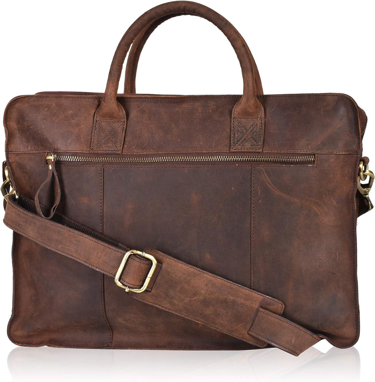 Leather Messenger Bag for Men & Women - Offie briefcase Laptop Satchel Bags