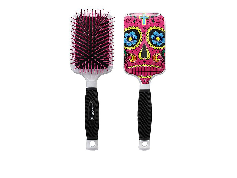 Bifull Haarbürste Paddelbürste mit Schädel Stil in rosa BIFULL PROFESIONAL