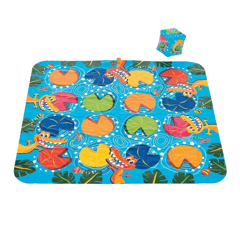Outdoor Water Splash pad Game Fun Express Croc Crossing Inflatable Outdoor Sprinkler Game