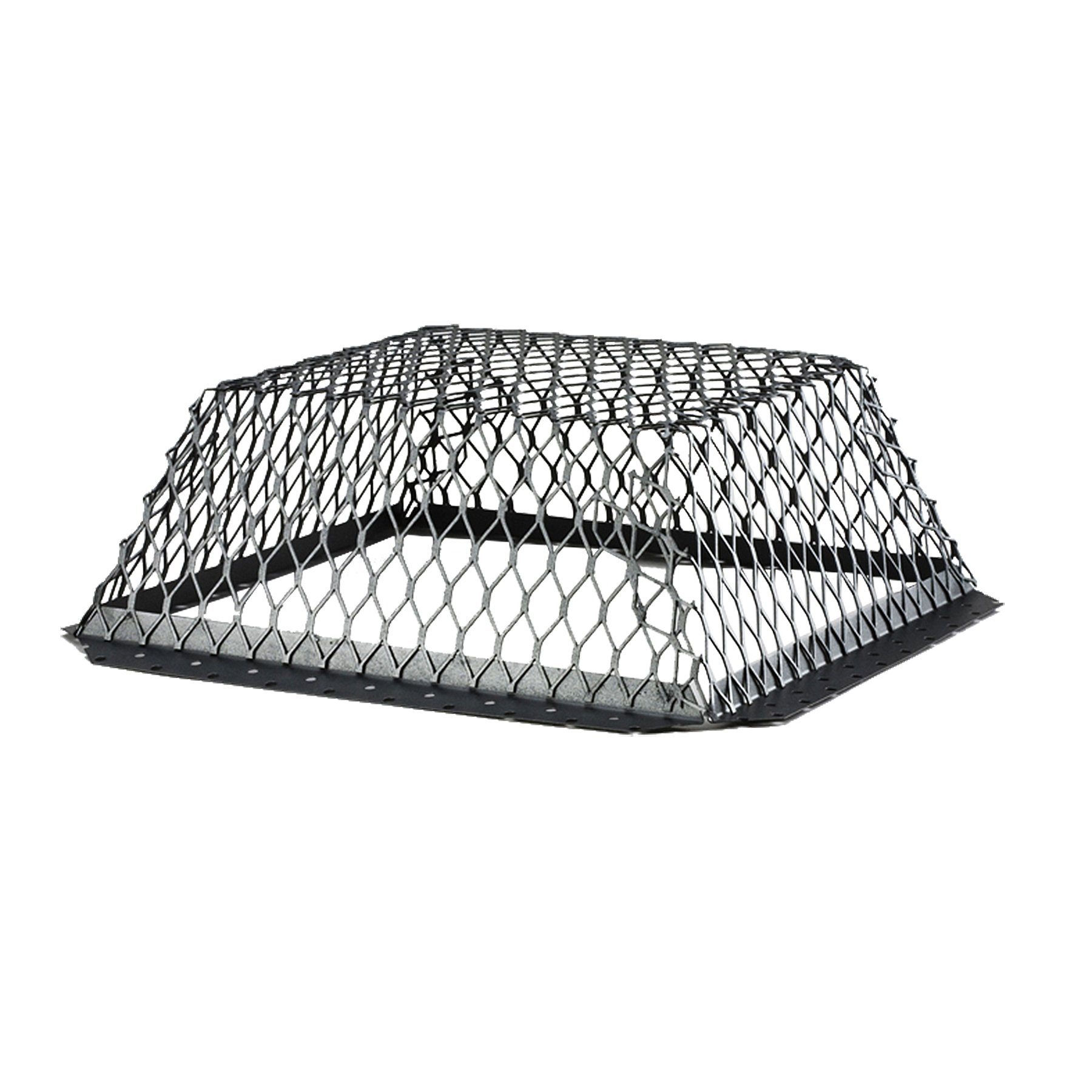HY-C RVG1616G Galvanized Black Roof VentGuard with Wildlife Exclusion Screen, 16'' x 16'' x 6''