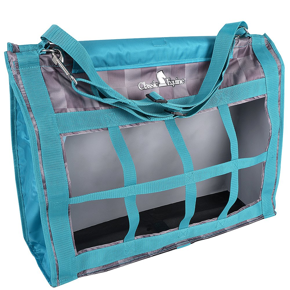 Classic Company Top Load Designer Hay Bag (Check/Teal) Classic Equine