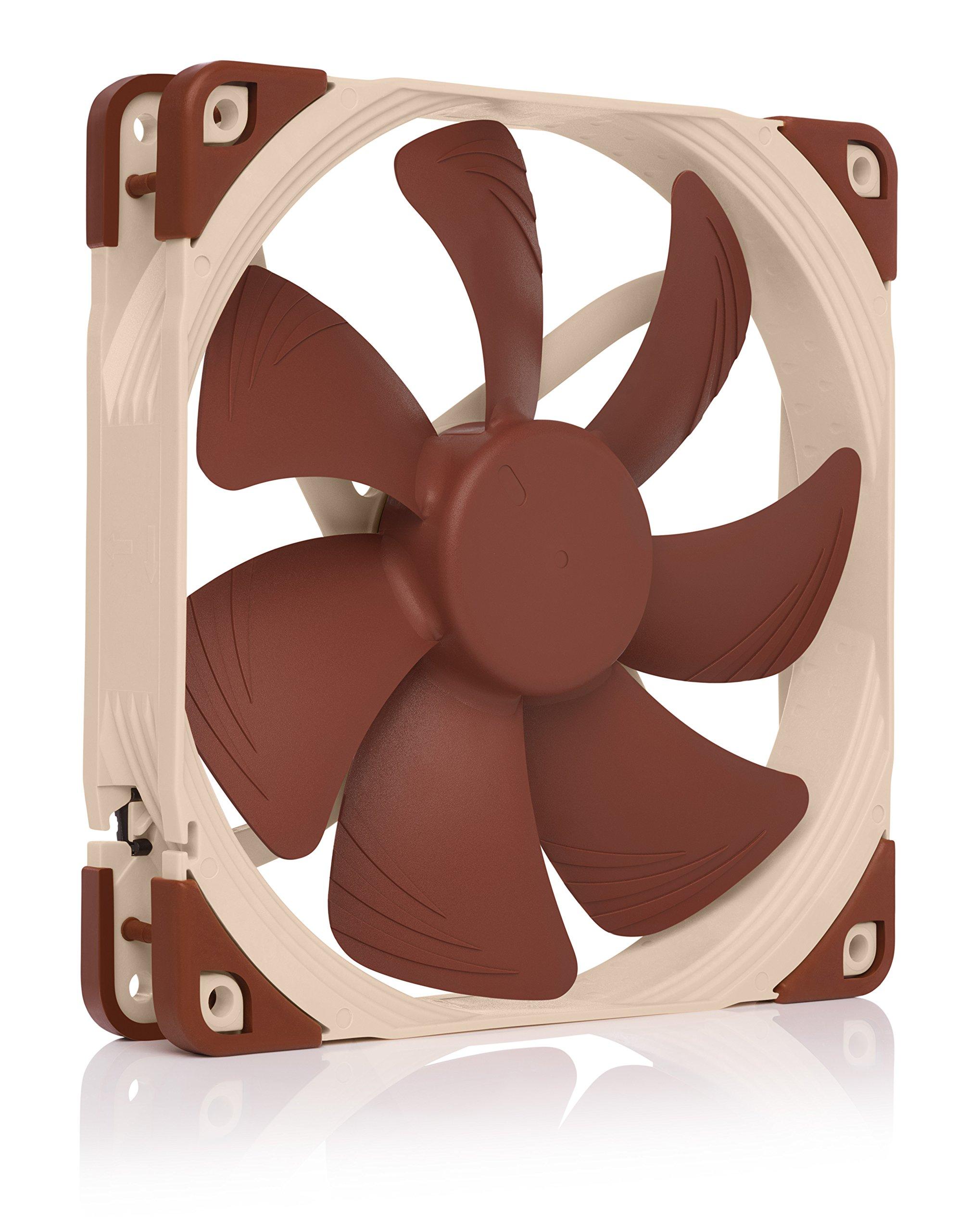 Noctua NF-A14 PWM, 4-Pin Premium Quiet Cooling Fan (140mm, Brown) by NOCTUA