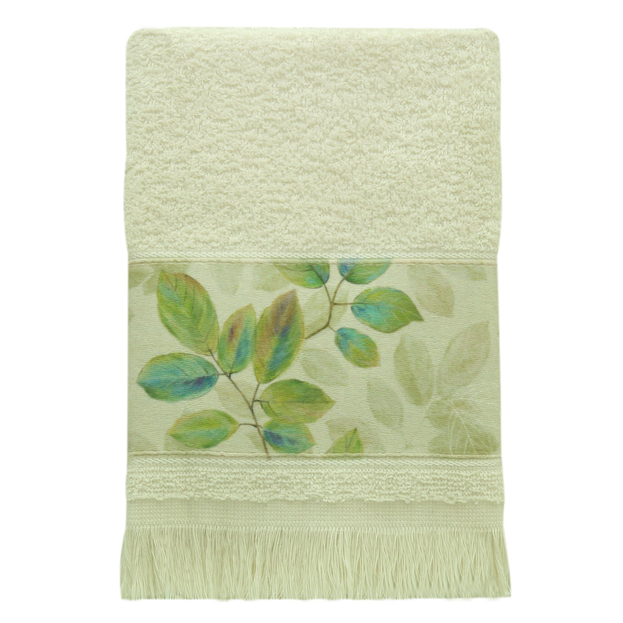 Bacova Guild Fingertip Towel, Waterfalls Leaves