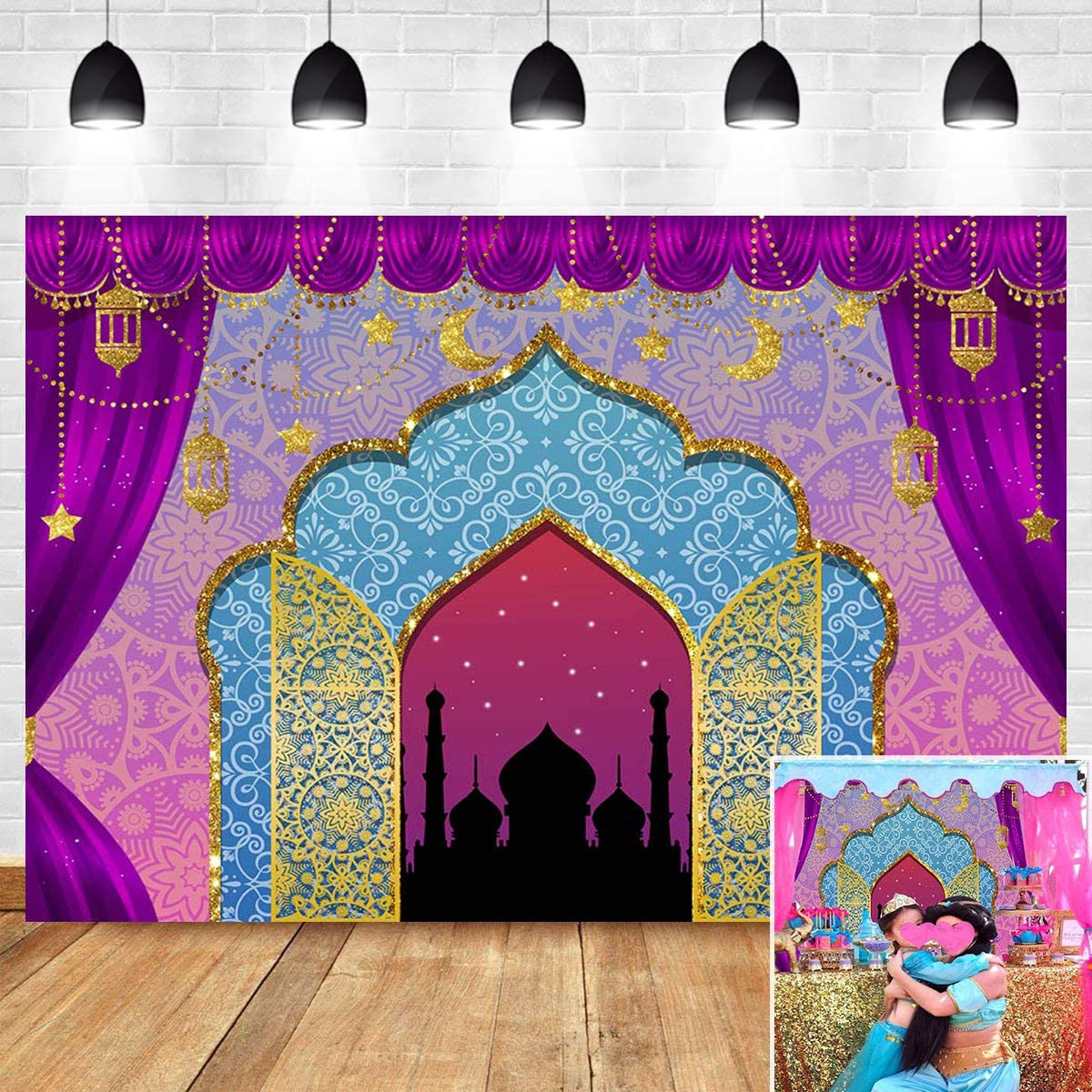 Amazon Com Magic Genie Indian Luxurious Photo Background Baby Shower Supplies Arabian Nights Moroccan Party Sweet Princess Birthday Party Banner Decorations Photography Backdrop Vinyl 5x3ft Camera Photo,Best Color Paint For Small Bedroom