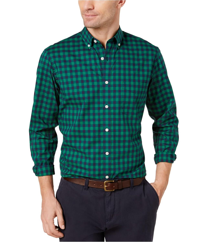 Club Room Mens Small Check Pocket Button Down Shirt