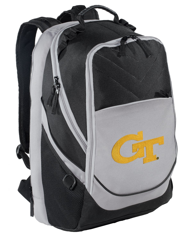 Broad Bay Georgia Tech Backpack GT Yellow Jackets Laptop Computer Bag