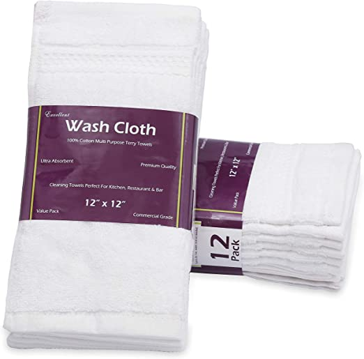 LUXURY Super White Face Towels 100/% ExtraSoft Cotton 600GSM Egyptian Cotton Face