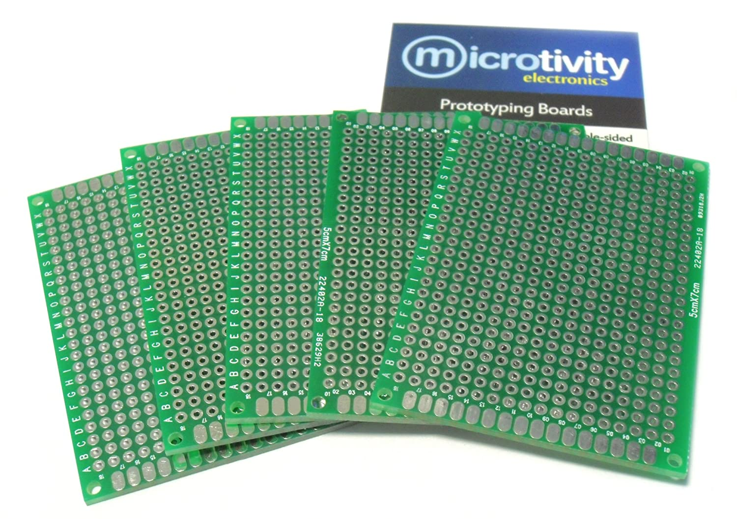 microtivity IM415 Double-sided Prototyping Board 5x7cm, Pack of 5