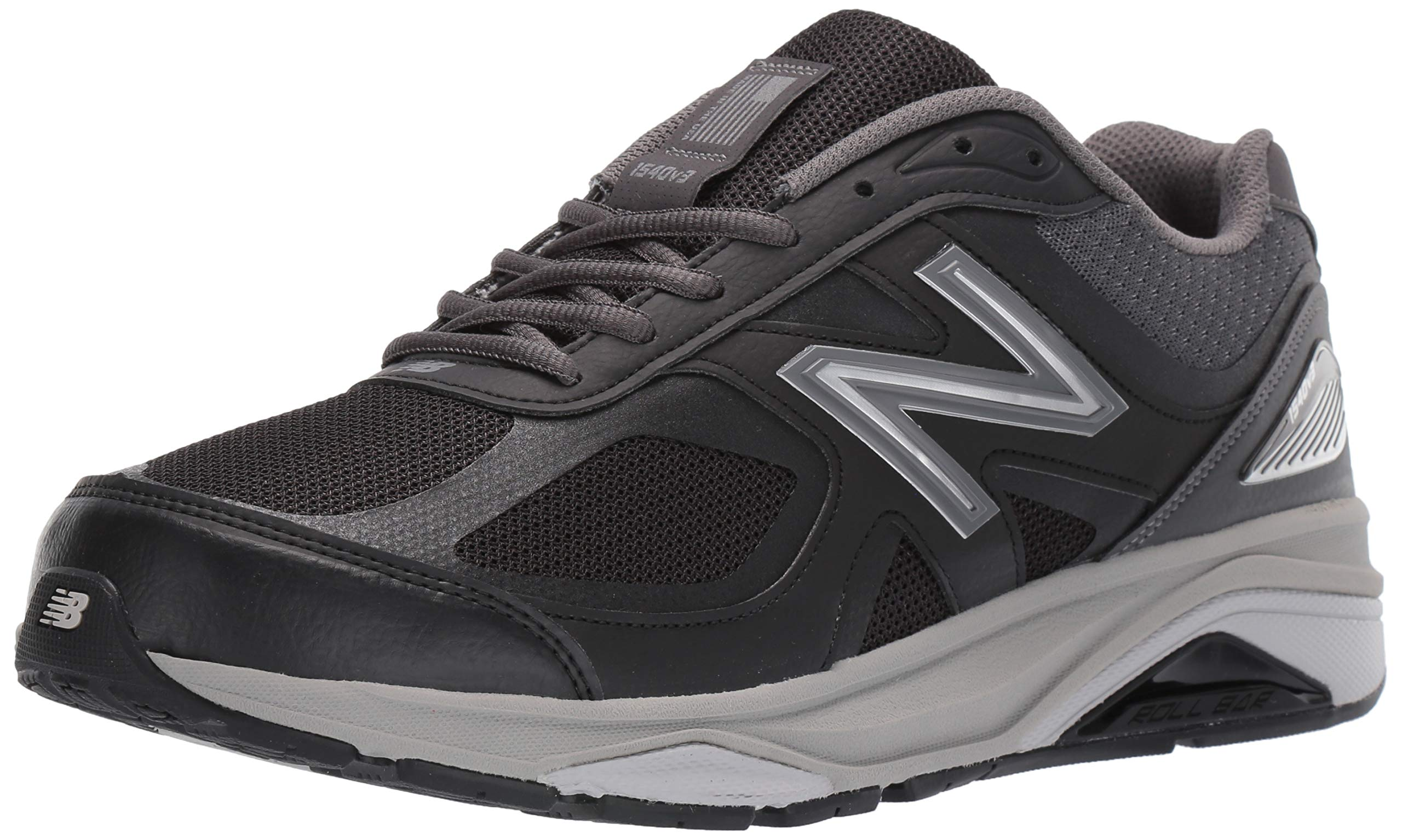 New Balance Men's 1540v3 Running Shoe, Black/Castlerock, 7 XW US
