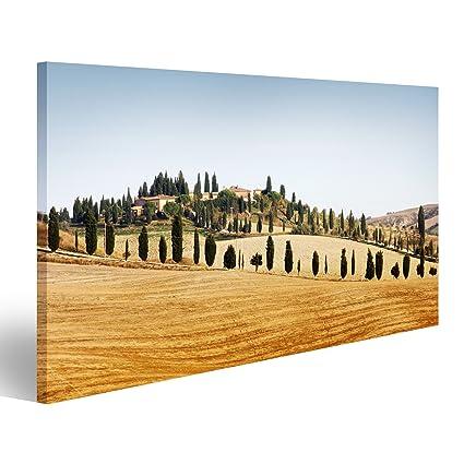 Quadri moderni tipico paesaggio in Toscana in autunno Stampa su tela ...