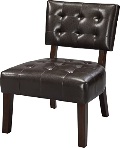 Crown Mark Beverly Accent Chair, Espresso Finish