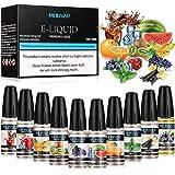 E Liquido Vaper, E-Liquid sin Nicotina 10x10ml, E-Liquido 70VG/30PG, E Liquid set para Cigarrillos Electronicos 0,0mg Nicotina (A)