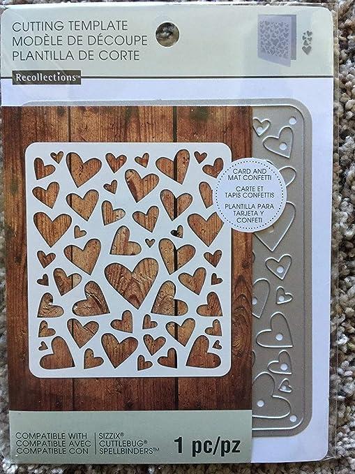 Embossing and cutting folder hearts scrapbooking die cut 10 * 15 cardmaking sizzix big shot