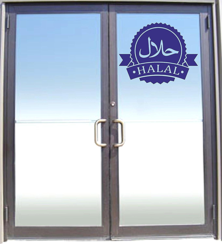 Tienda de 1 x HALAL vinilo letreros/símbolos/pegatinas para cortar/Cafe/(30 x 30 cm, color azul: Amazon.es: Industria, empresas y ciencia