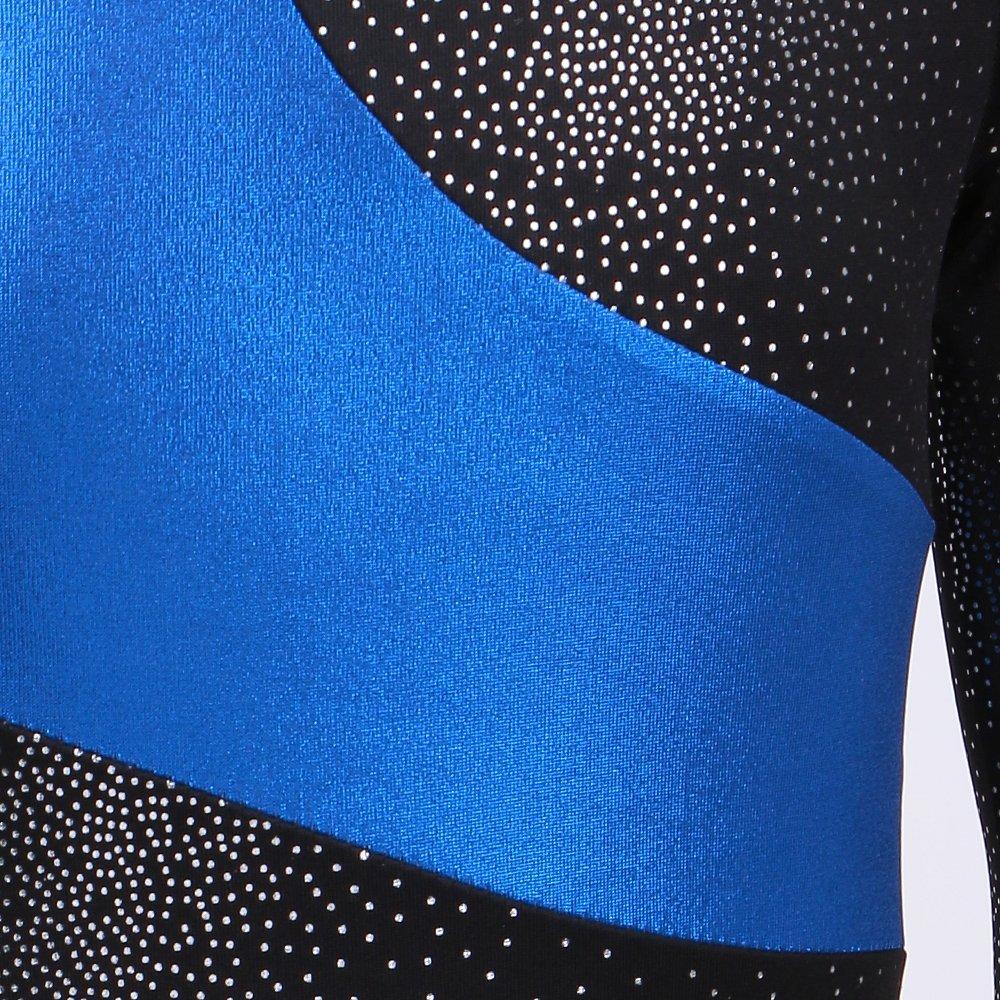 Kidsparadisy Long Sleeve Gymnastics Leotards for Girls Sparkly Dance Practice Costume