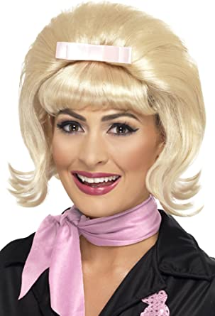 50/'s Flicked Beehive Bob Adult Womens Smiffys Fancy Dress Costume Accessory