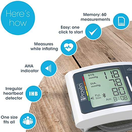 Amazon.com: Best FDA Blood Pressure Monitor Wrist with Bluetooth - BPM-337BT-B Full Automatic Machine BP Wrist - Fast Readings and Always Accurate - BPM by ...