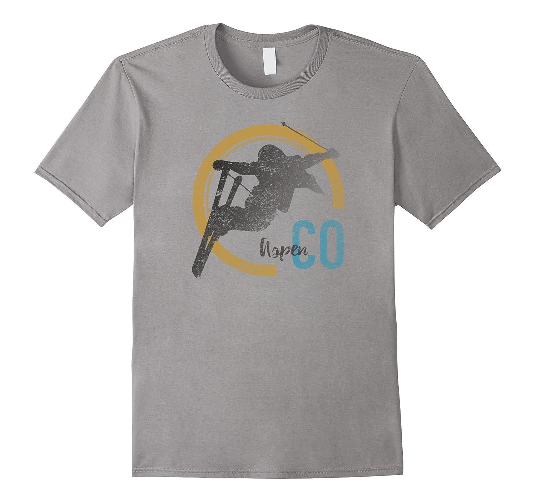 Aspen Colorado Ski T Shirt-T-Shirt