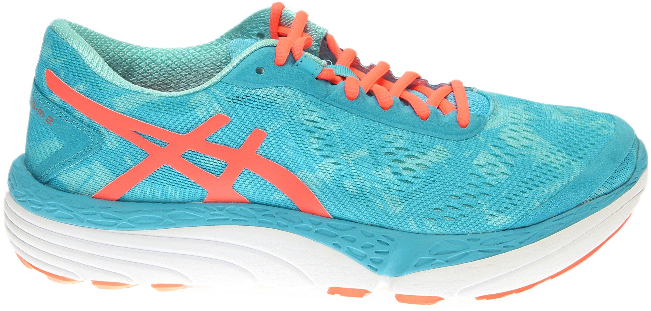 ASICS Women's 33-M 2 Running Shoe, Aquarium/Flash Coral/Aruba Blue, 9.5 M US by ASICS (Image #2)