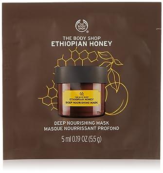 The Body Shop Ethiopian Honey Deep Nourishing Mask, Single Use Expert  Facial Mask, Paraben