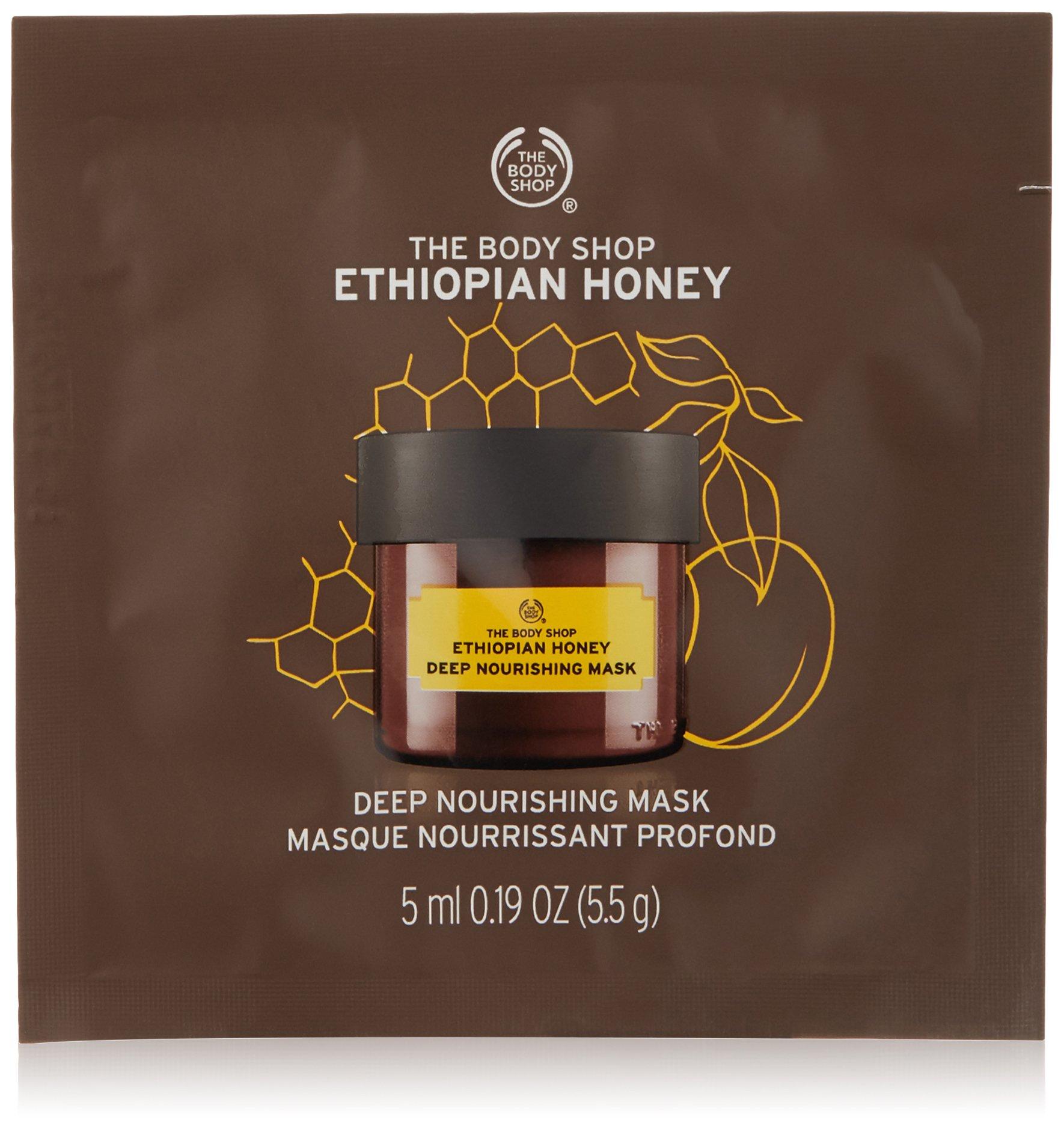 The Body Shop Ethiopian Honey Deep Nourishing Mask, Single Use Expert Facial Mask, Paraben Free, 0.2 Oz.