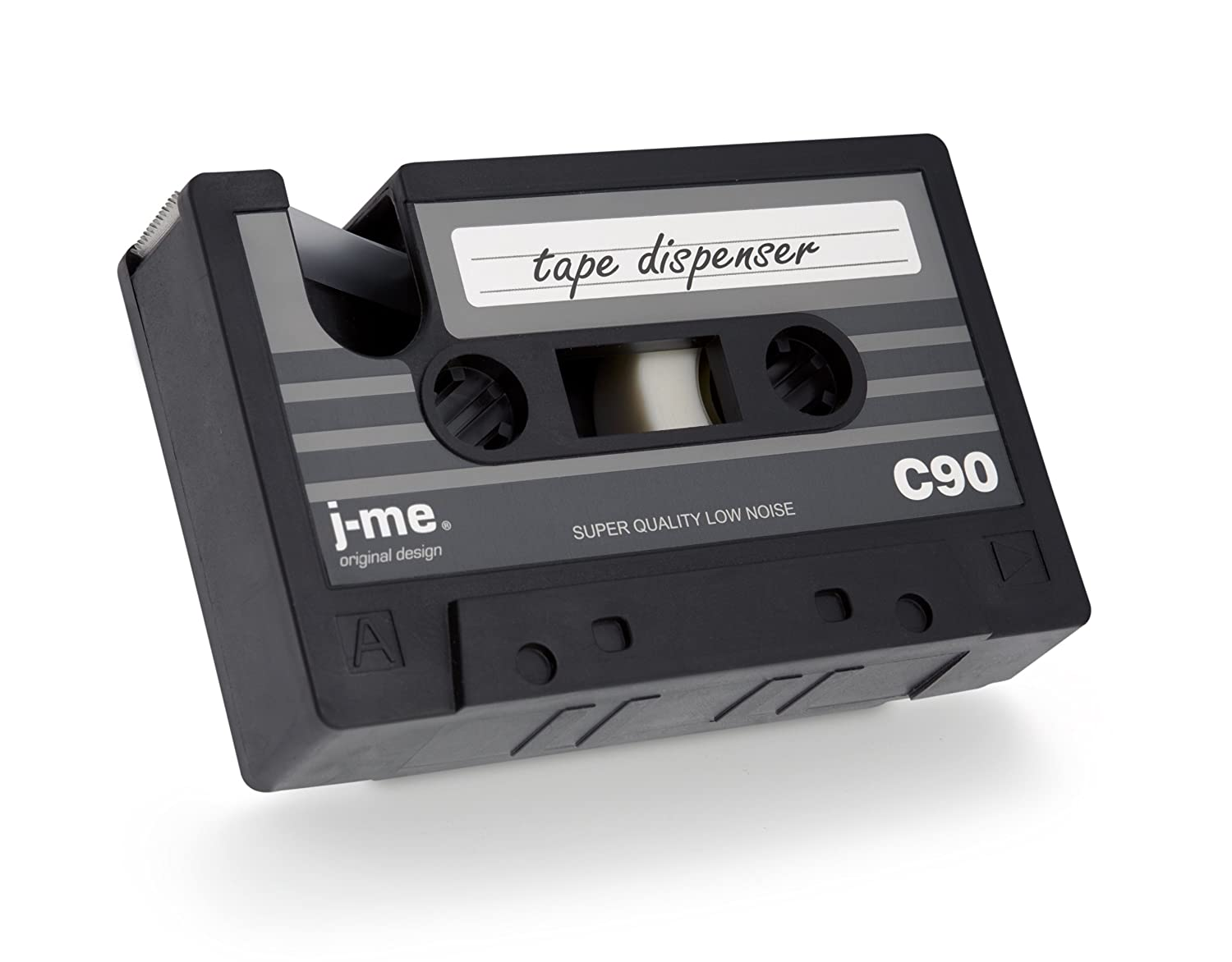 Cassette Tape Dispenser with one roll of sticky tape. Five designs available.