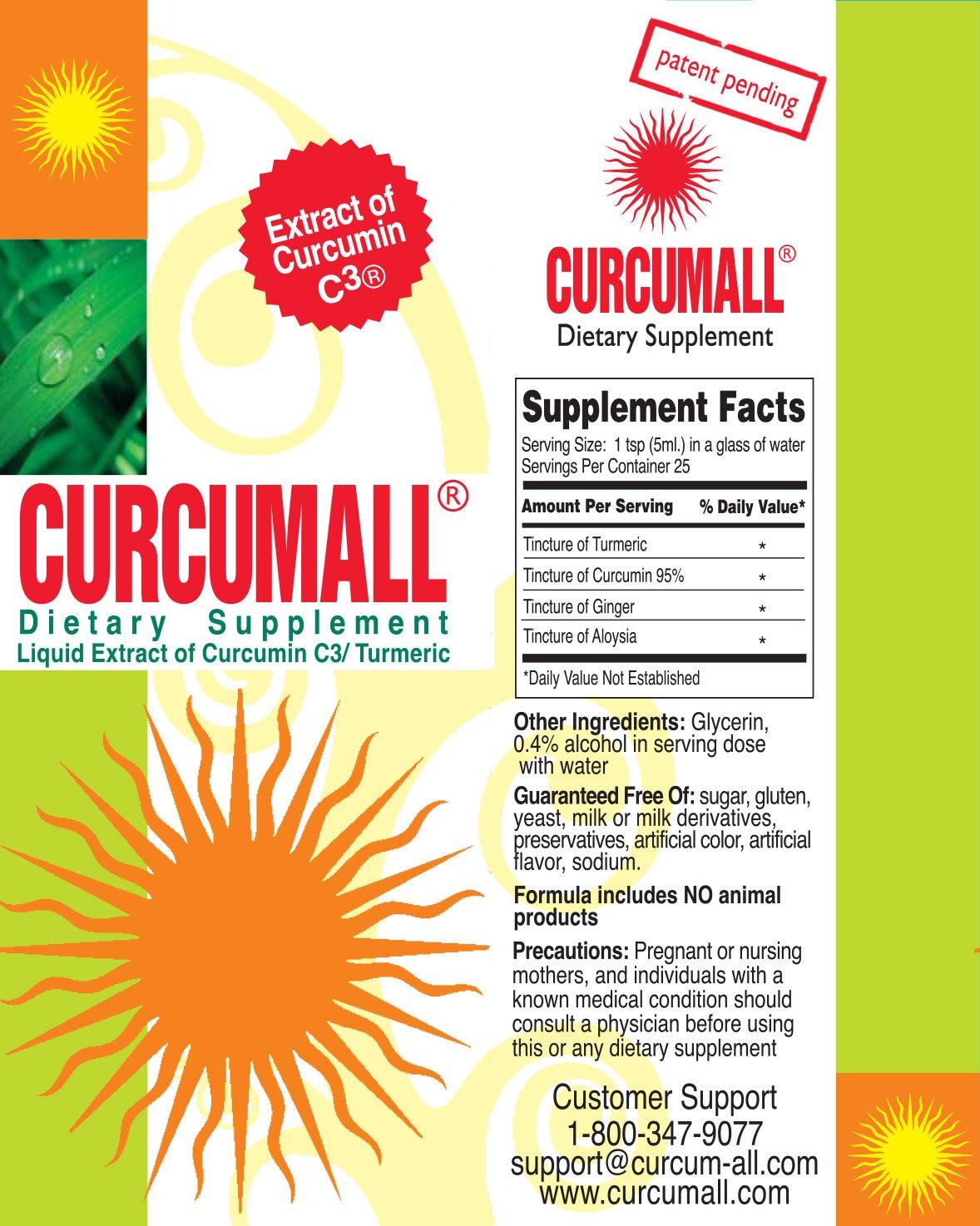 Curcumall High Absorbency Liquid Curcumin (3 bottles)