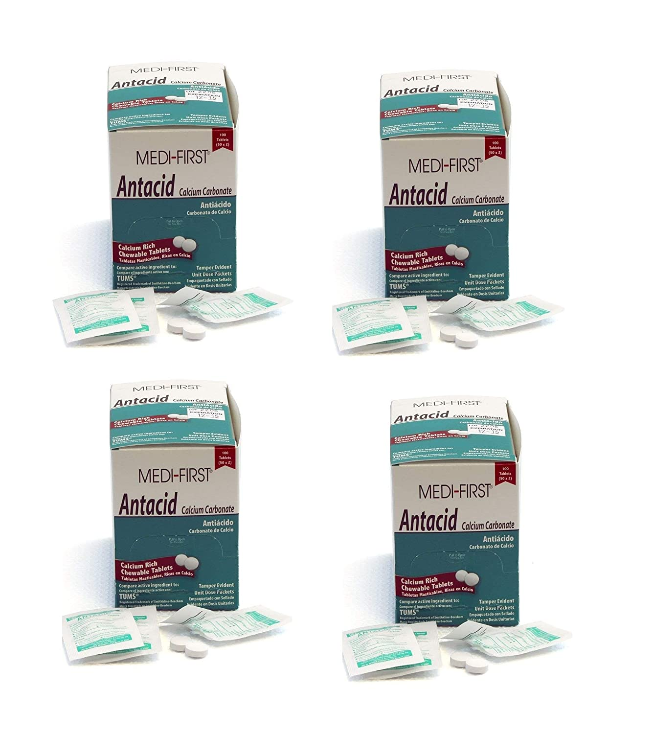 Amazon.com: Medi-First 80233 Chewable Mint Antacid Tablets, 50 Count (3 Pack): Health & Personal Care