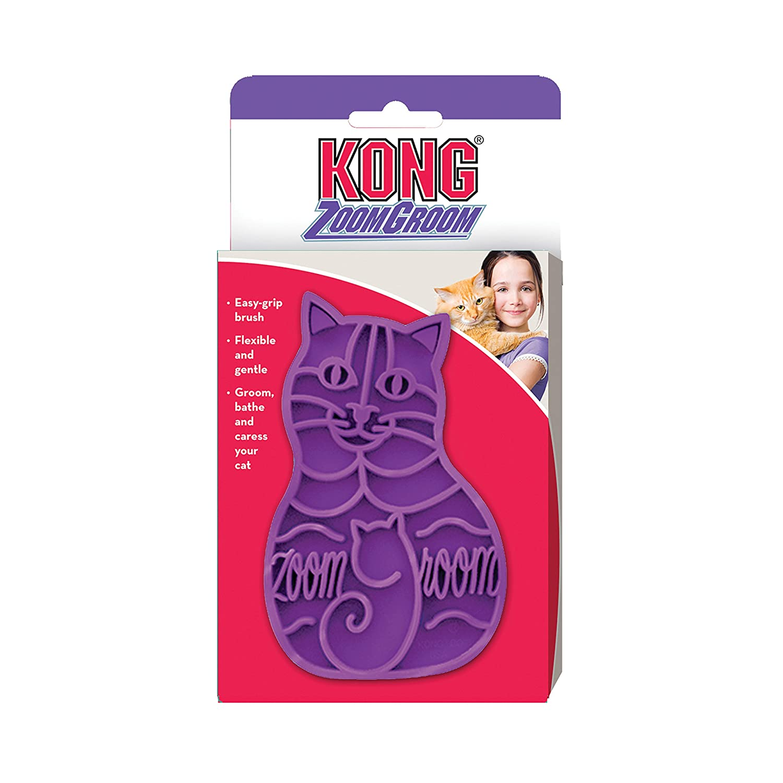 Unbekannt Striegel für Katzen Kong Zoom Groom Paulchen CZG Katzen: Katzenpflege