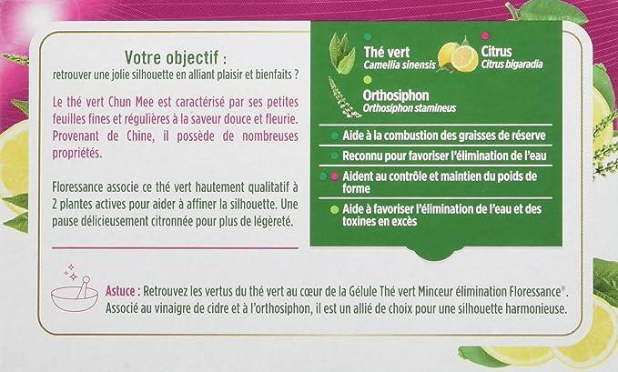 Floressance Phytothérapie Thé Aide Minceur 20 Sachets Lot de 6  Amazon.fr   Hygiène et Soins du corps 540a13b72383