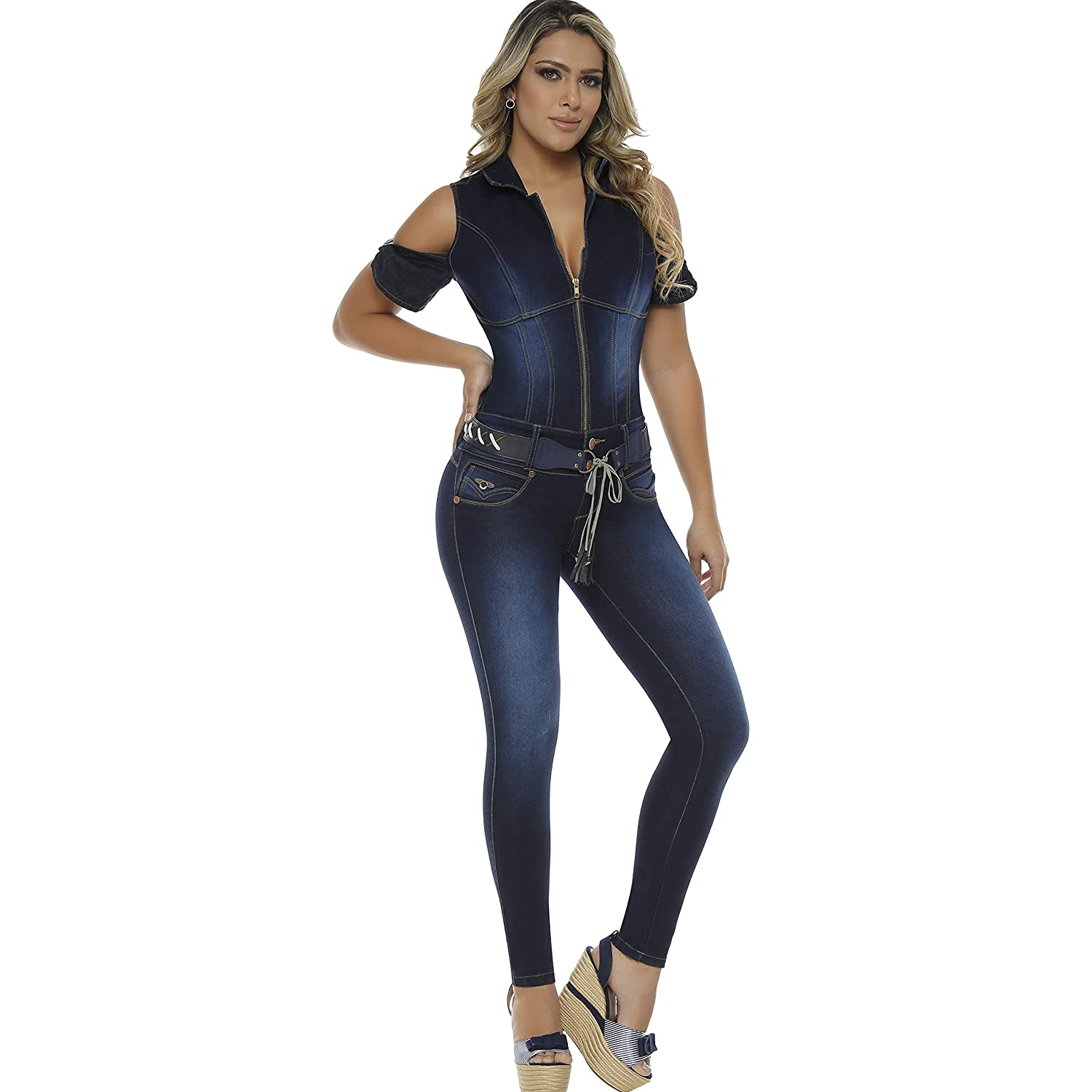 3f3b7d816e81b BUTT LIFTING SKINNY JUMPSUITS FOR WOMEN: Heart shape seam on top of the  rear lifts and shapes the buttocks, adding volume naturally.