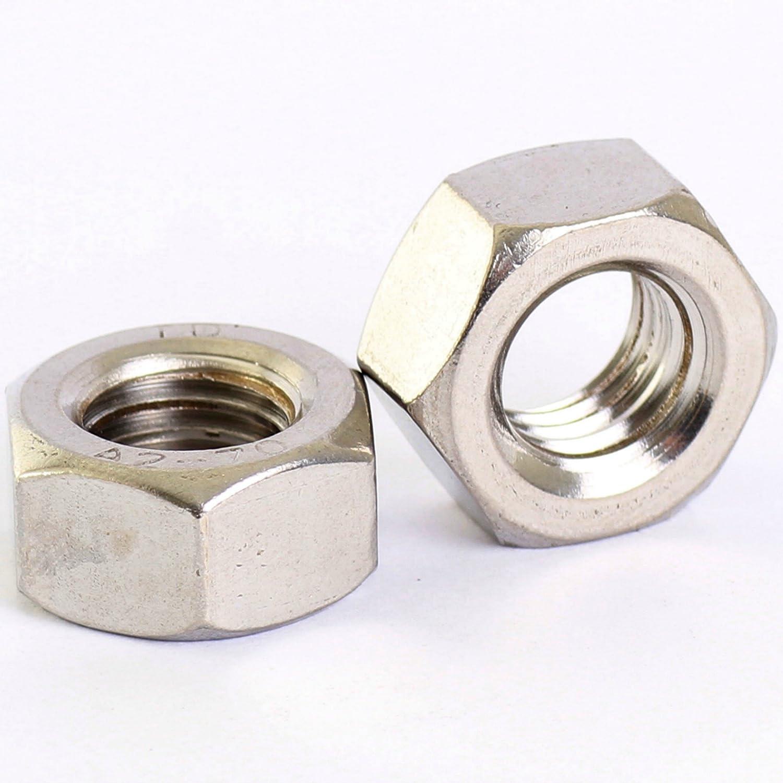 A2 de acero inoxidable fino hilo dIN934 paquete de 8 Tuerca hexagonal M8
