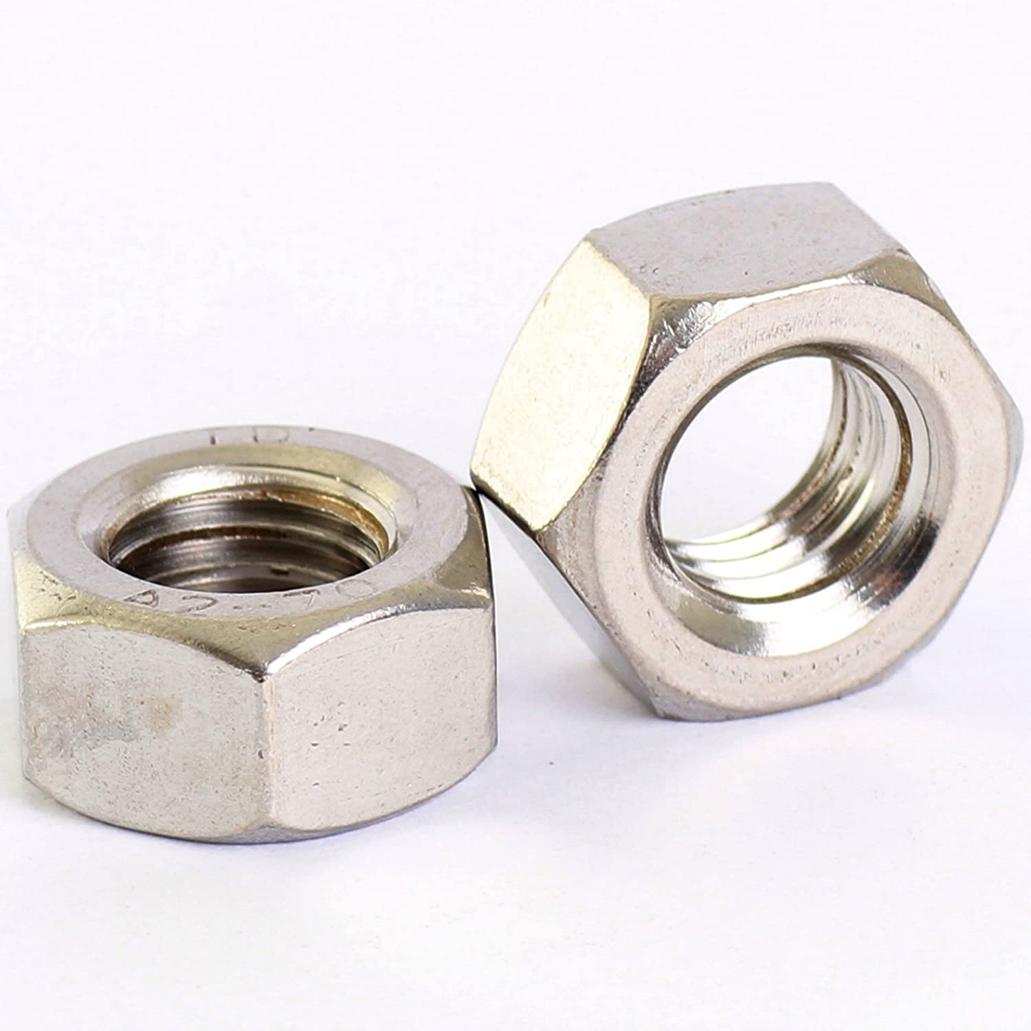 Bolt Base A2 Stainless Steel Hex Full Nuts M10 X 1.50mm Pitch - 10