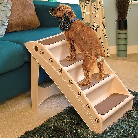 Ligero plegables Pasos para perros - Escaleras compactos Para ayudar a las mascotas con la movilidad para los coches, sofás y camas: Amazon.es: Hogar