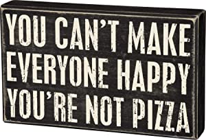 Primitives by Kathy 31099 Classic Black and White Box Sign, 10 x 6-Inches, Not Pizza