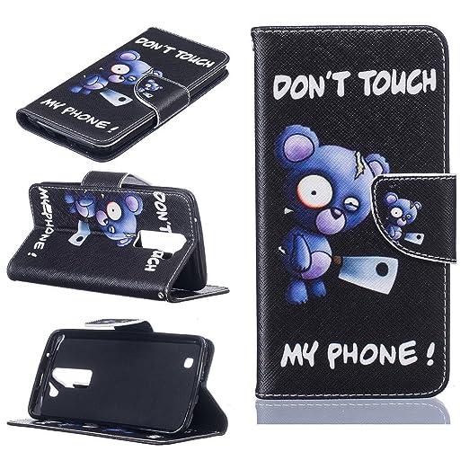 3 opinioni per LG K8 Custodia, Dokpav® Ultra Slim Sottile Flip Pelle PU Case Cover per LG K8