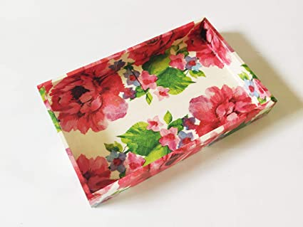 Buy Handcrafted Decoupage English Floral Print Small Tray