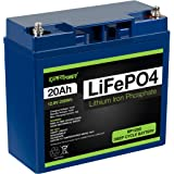ExpertPower 12V 20Ah Lithium LiFePO4 Deep Cycle Rechargeable Battery | 2500-7000 Life Cycles & 10-Year lifetime | Built-in BM