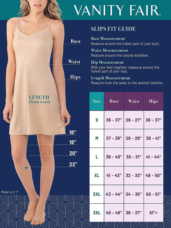 Vanity Fair Womens 360/° Half Slip 11760 Vanity Fair Women/'s IA