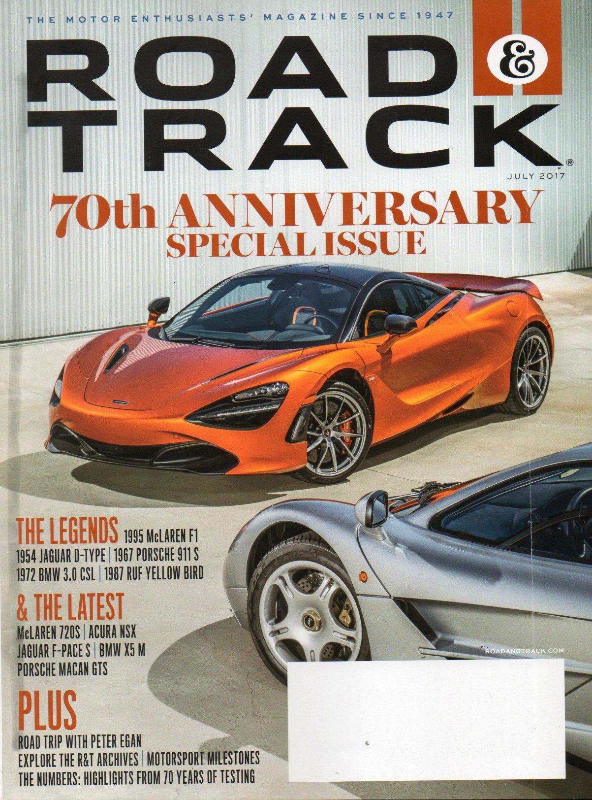 Road & Track 2017 Magazine THE LEGENDS: 1995 McLAREN F1 1954 JAGUAR