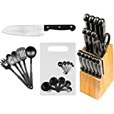 29 Pc Chef's Kitchen Knife Set w/Block - Stainless Steel Cutlery Sets - Cooking Knives & Kitchen Utensils