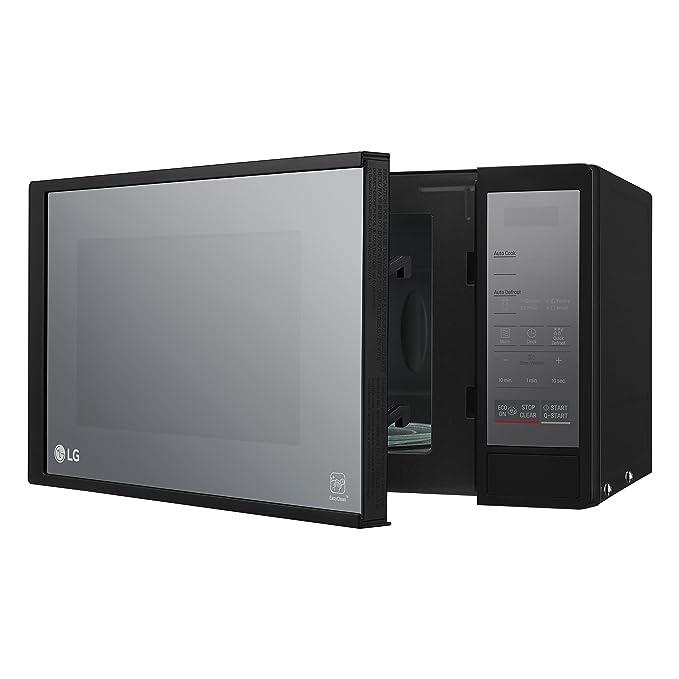 LG MS2044DNR - Microondas de 20 L, 700 W de potencia, fácil de limpiar, con control táctil de color plata: Amazon.es: Hogar