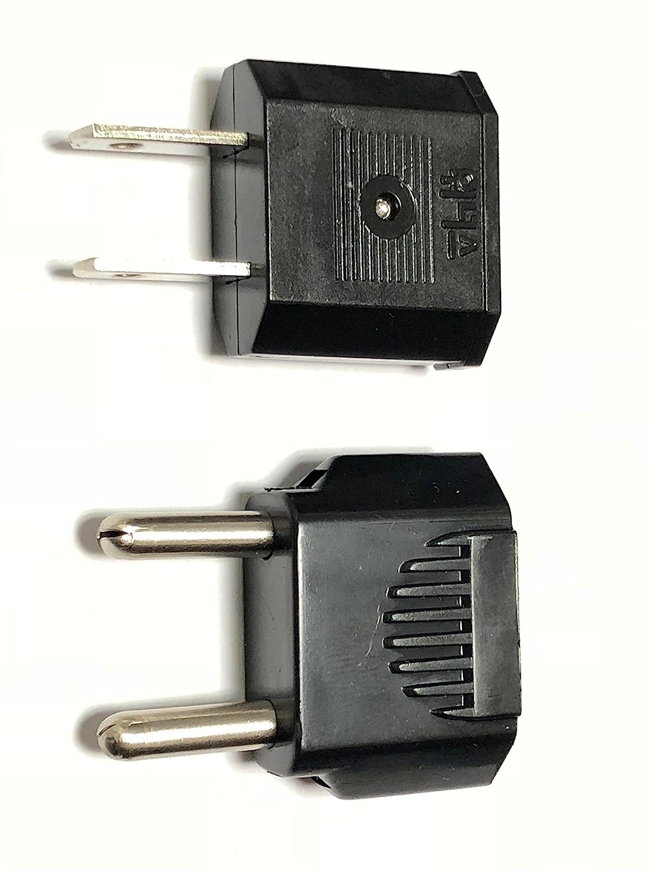 2PK Universal To American Plug Adapter Euro Asia Converter to USA