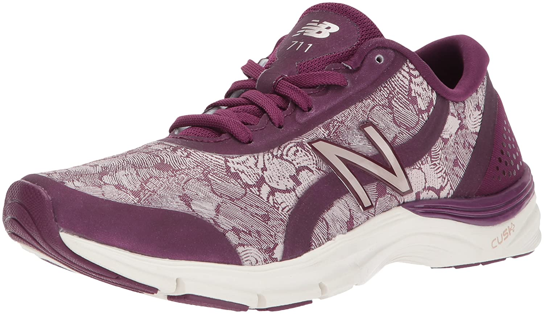 New Balance Women's 711v3 Cross Trainer B01N7LX352 5.5 B(M) US|Dark Mulberry/Faded Rose