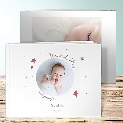 Fotoalbum Taufe Personalisiert Baby Star 84 Seiten