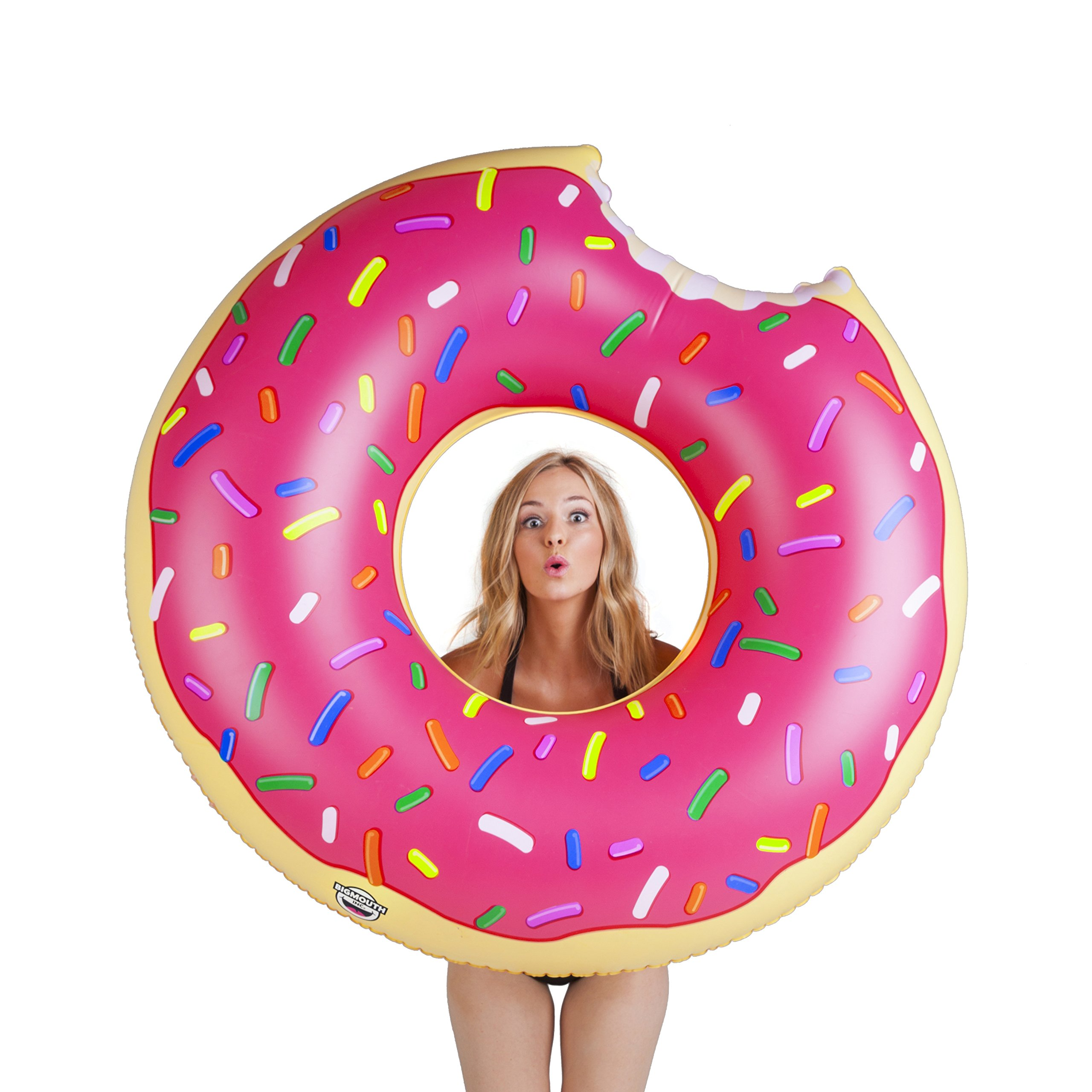 BigMouth Inc Gigantic Donut Pool Float, Funny Inflatable Vinyl Summer Pool or Beach Toy, Patch Kit Included by BigMouth Inc