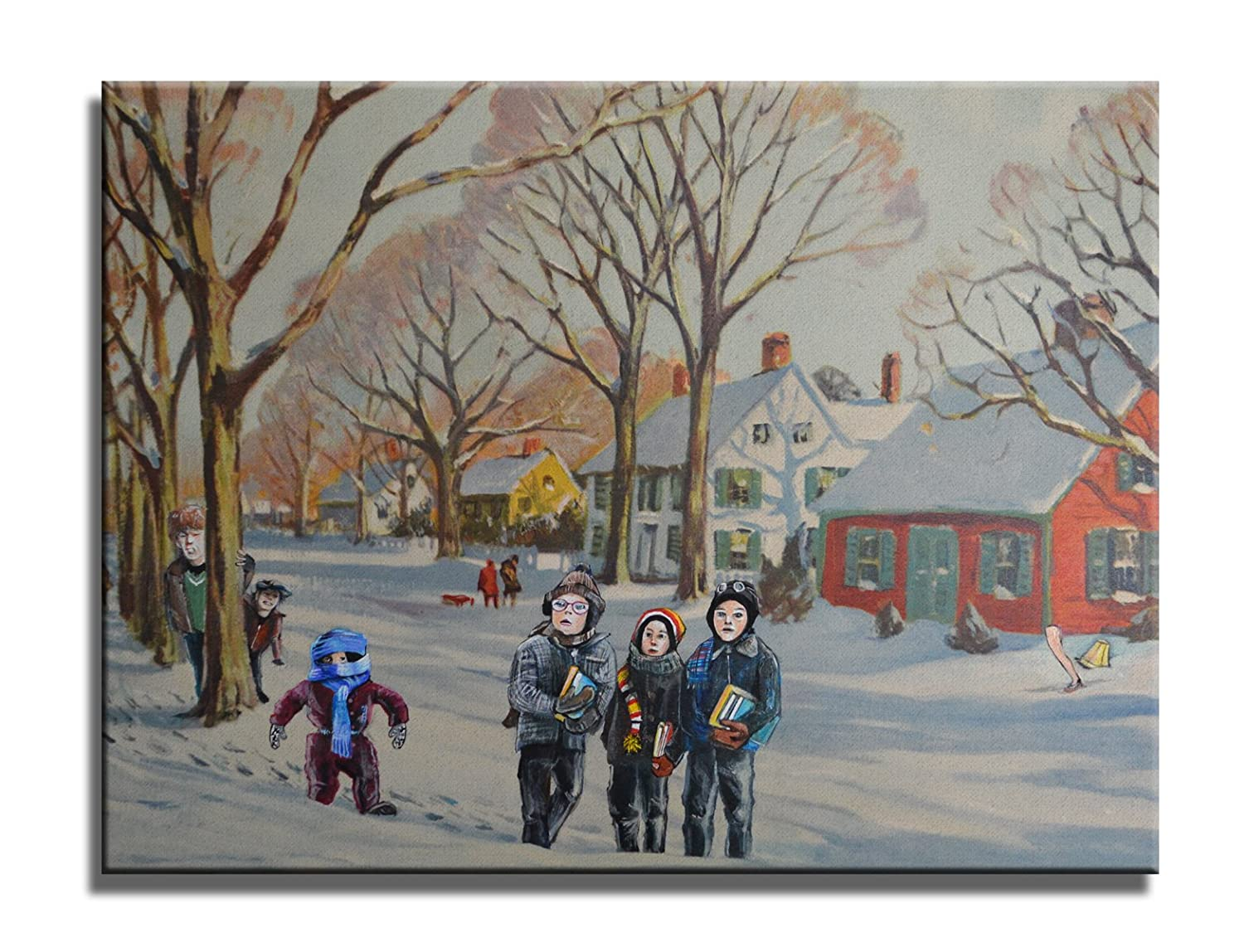 David Irvine Signed Authentic Official Pop The The Bell Rang Ralphie A Christmas Story Wrap Canvas Wall Art D/écor at 24in by 36in MCNVDRV014