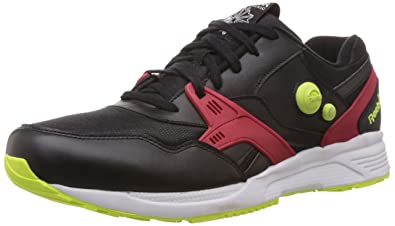 new style 65bfc 75122 Reebok Pump Running Dual Mu, black excellent red yellow, 11,5