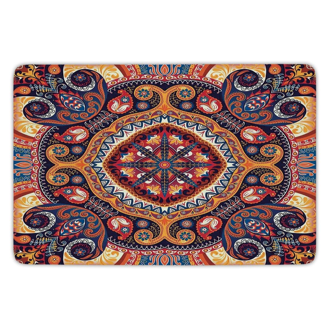 amazon com bathroom bath rug kitchen floor mat carpet paisley decor rh amazon com