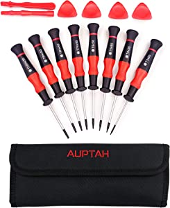 Torx Screwdriver Set, Auptah 14Pcs S2 Magnetic Precision Screwdriver Set with Torx and Torx Security Screwdriver, Made In Taiwan Star Screwdriver Set for Xbox Controller, Ring Doorbell, Phone Repair.